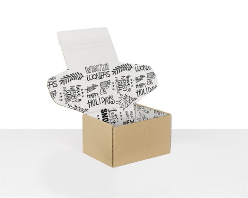 100% Recycled Boxes with Christmas Pattern, Min. Order (Pack of 100 pieces)
