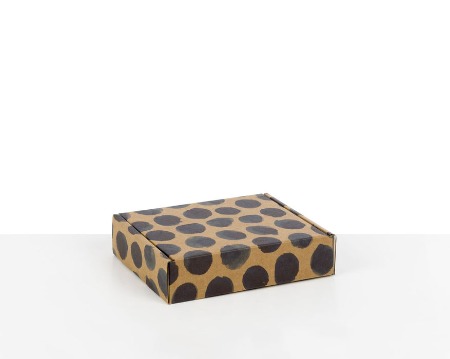 100% Recycled Boxes with Indigo Blue Dots - The sustainable sourcing company