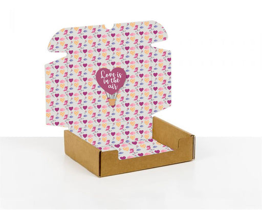 100% Recycled Boxes with Love is in the air, Min. Order (Pack of 100 pieces)