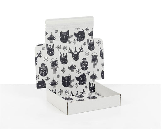100% Recycled Boxes with Xmas Kids Print, Min. Order (Pack of 100 pieces)