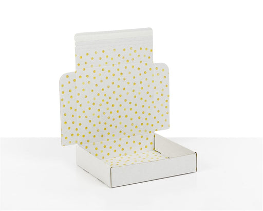 100% Recycled Boxes with Gold Dots Print, Min. Order (Pack of 100 pieces)