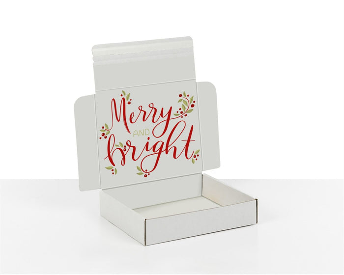 100% Recycled Boxes with Merry & Bright, Min. Order (Pack of 100 pieces)