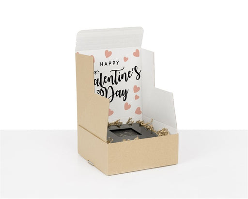 100% Recycled Boxes with Happy Valentine's Day, Min. Order (Pack of 100 pieces)
