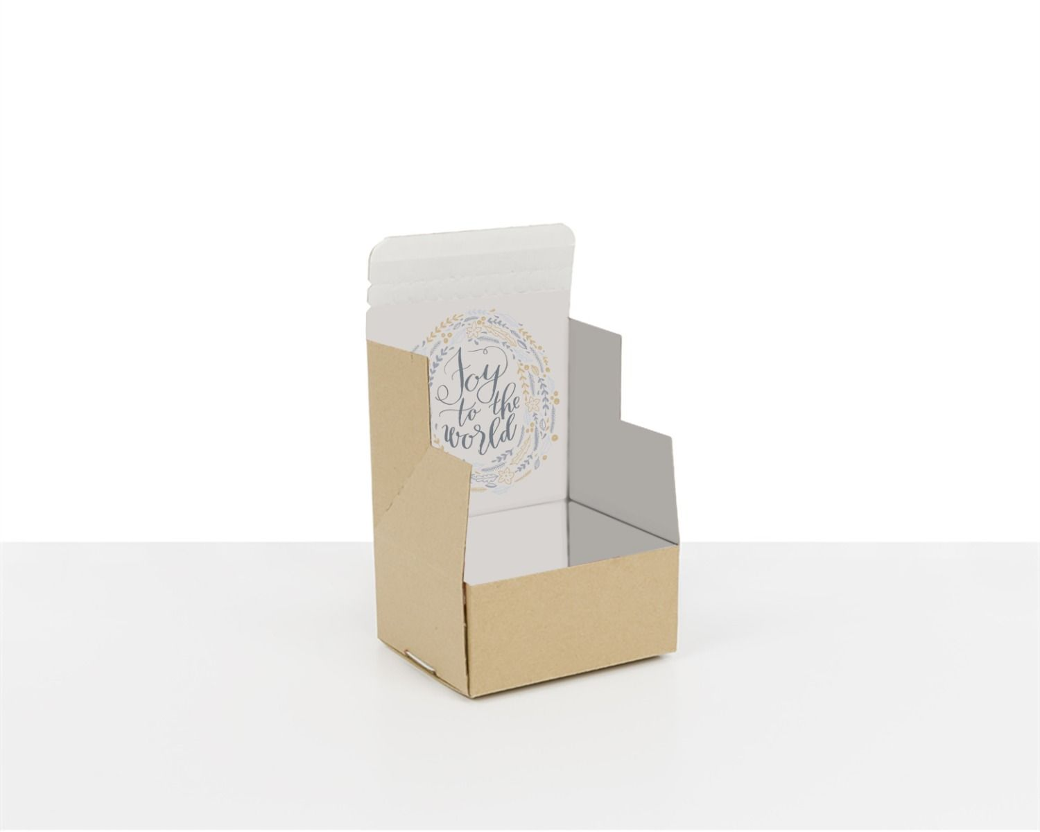100% Recycled Boxes with Joy to the World, Min. Order (Pack of 100 pieces)