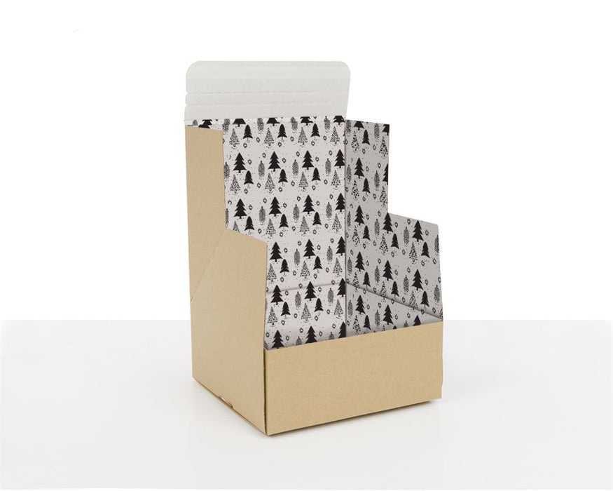 100% Recycled Boxes with Christmas Trees - The sustainable sourcing company