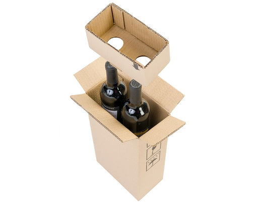 100% Recycled Brown Cardboard Wine Box - The sustainable sourcing company
