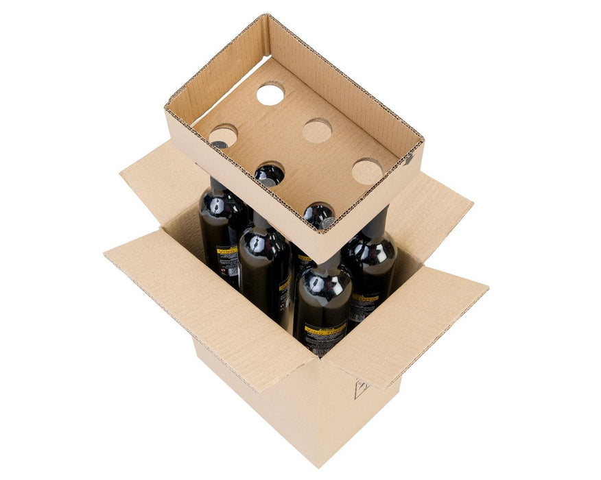 100% Recycled Brown Cardboard Wine Box