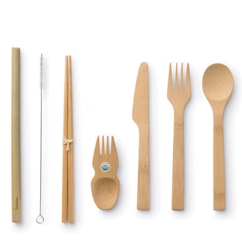 Reusable Organic Bamboo Utensils and Straw Set, Min. Order (Pack of 10 pieces)