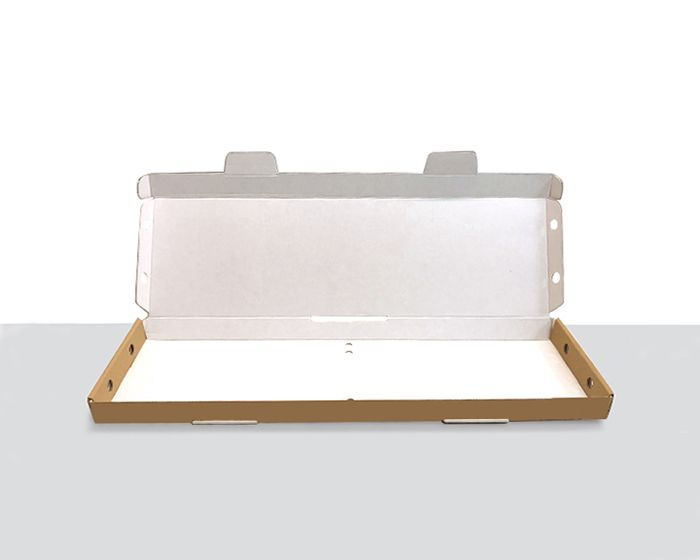 100% Recycled Brown/White Flower Letter Box 588x174x33mm (L x W x H) - The sustainable sourcing company