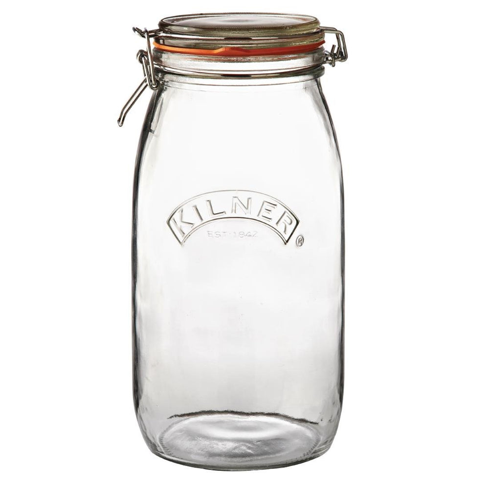 Reusable Glass Clip Top Preserve Jar, Min. Order (Pack of 10 pieces)