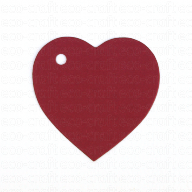 100% Recycled Heart Shaped Gift Tags, Min. Order (Pack of 10 pieces)