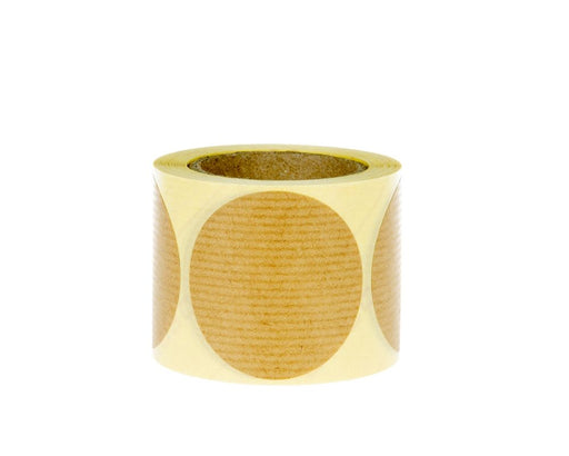 100% Recycled Brown Kraft Round Labels 50mm diameter - roll of 250 labels - The sustainable sourcing company
