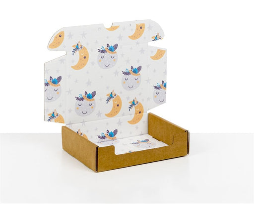 100% Recycled Boxes with Kids Moons Print, Min. Order (Pack of 100 pieces)