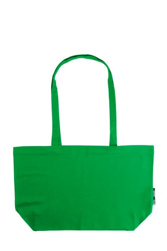 100% Organic Cotton Shopping Bag with Short Handles, Min. Order (Pack of 10 pieces)