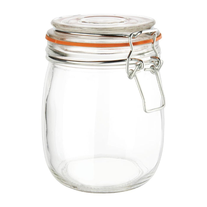 Reusable Glass Vogue Clip Top Preserve Jar, Min. Order (Pack of 10 pieces)