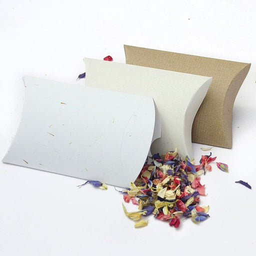 100% Recycled Paper Pillow Boxes 10, Min. Order (Pack of 10 pieces)