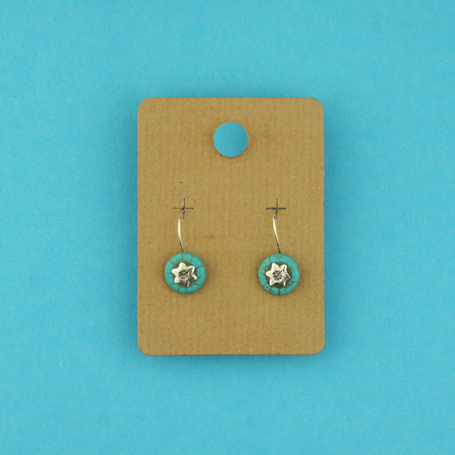 100% Recycled Earring Hangers (55mm), Min. Order (Pack of 10 pieces)