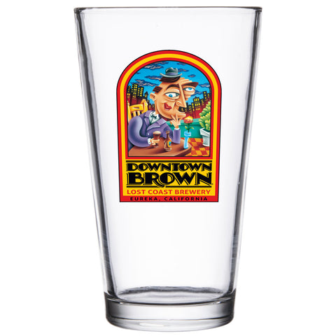 Downtown Brown Pint Glass