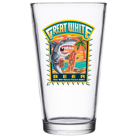 Great White Pint Glass