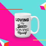 Loving My Curves, Loving Myself Women's Empowerment Coffee Mug