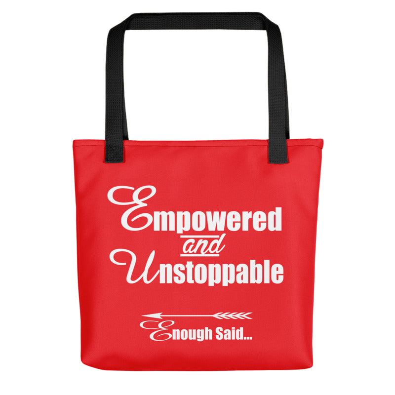 Empowered and Unstoppable Women's Empowerment Tote Bag