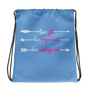 Live Fit, Live Empowered, Live Unstoppable Women's Fitness Gym Bag