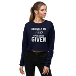 Uniquely Me No Apologies Given Women's Empowerment Crop Sweatshirt