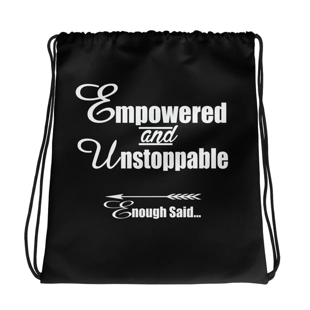 Empowered, Unstoppable, Enough Said, Women's Fitness Gym Bag