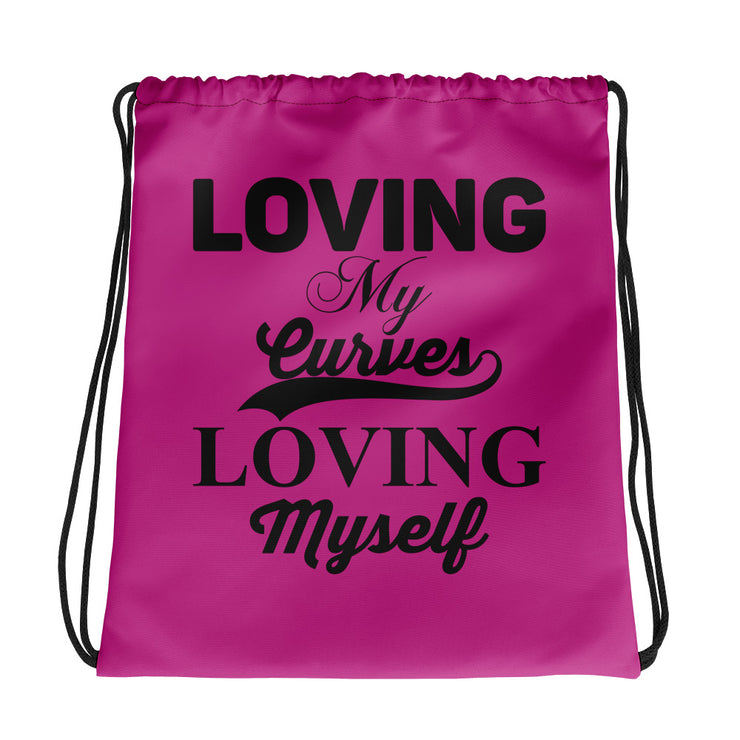 Loving My Curves, Loving Myself Women's Fitness Gym Bag