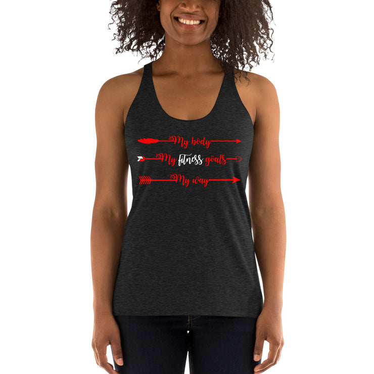 My Body, My Fitness Goals, My Way Women's Fitness T-Shirt