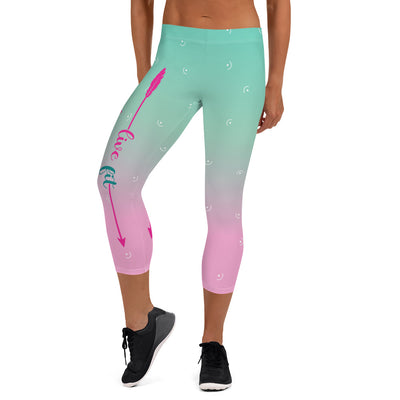 Live Fit, Live Empowered, Live Unstoppable Women's Fitness Capri Leggings
