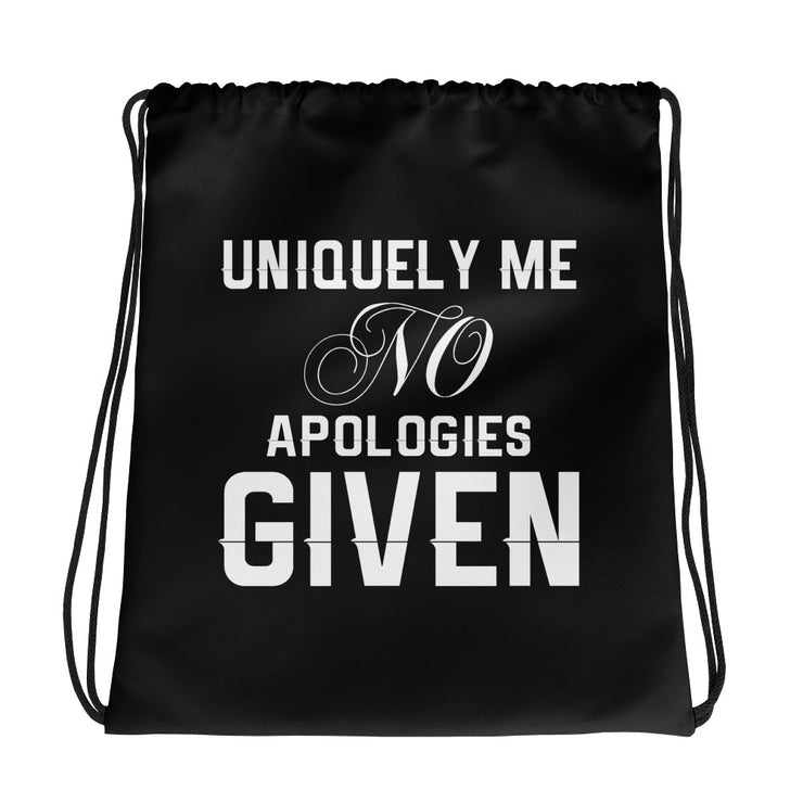 Uniquely Me No Apologies Given Women's Fitness Gym Bag
