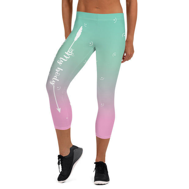My Body, My Fitness Goal, My Way Women's Fitness Capri Leggings