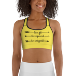 Live Fit Live Empowered Live Unstoppable Sports Bra