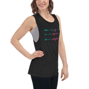 Live Fit, Live Empowered, Live Unstoppable Women's Fitness T-Shirt (Teal & Pink Logo)
