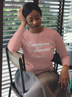 Empowered, Unstoppable Enough Said Women's Empowerment Crop Sweatshirt