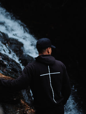 Finding tranquility in the Black Cross Hoodie