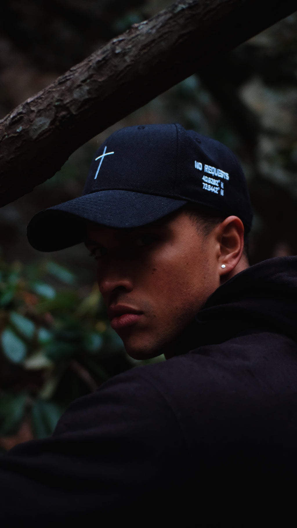Embroidered Cross Structured 6 Panel Unisex Dad Hat. Adjustable Snapback So One Size Fits All