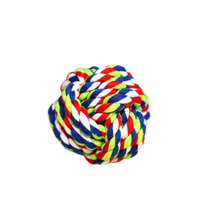 Multi-Color cotton dog toy ball to play and clean their teeth with health and act benefits