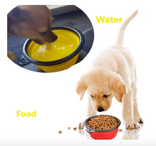 Load image into Gallery viewer, Portable & Collapsible Silicone Dog Travel Bowl by Doggykingdom® (Clip included)