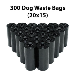 Dog Waste Bags + Dispenser and Leash Clip