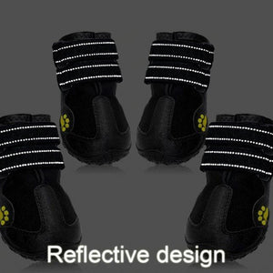 Doggykingdom Winter boots waterproof for dogs reflective design
