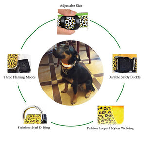 LED Safety Dog Nylon Collar by Doggykingdom®
