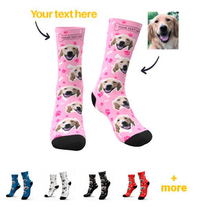 Customized / Personalized socks for human. Printed with a custom photo or pattern.