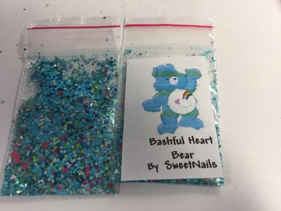 Glitter mix - Care Bear bashful heart