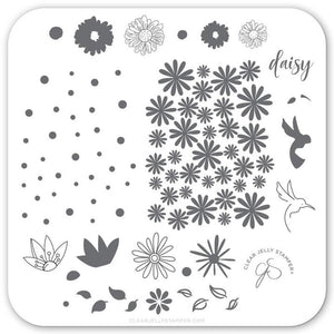 Stamping Plate Small - Daisy Do, Daisy Don't CJS-113