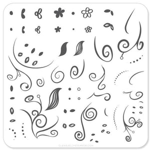 Stamping Plate Small - Floral Swirl #1 CJS-13