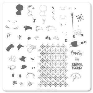 Stamping Plate Small - Do you want to build a snowman CJS-C-40