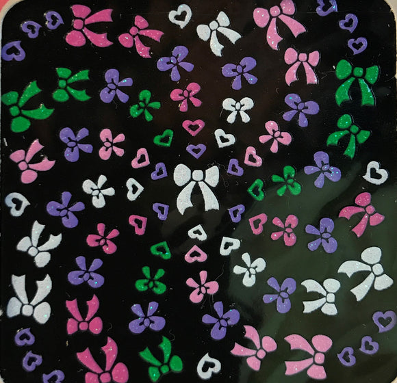 Flat Decals Colorful Bows