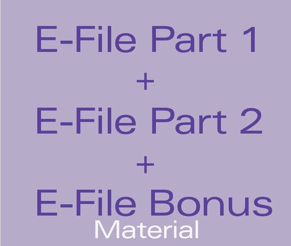 E-File Bundle - E-File Part 1 & 2 + E-File Bonus Material